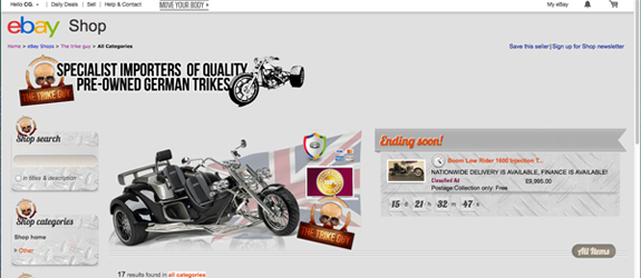 VISIT OUR OFFICIAL  TRIKE GUY EBAY  STORE
