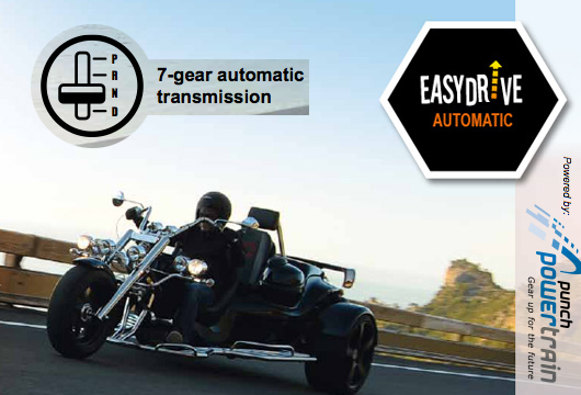 The Trike Guy - 2018 see's all new Rewacos with an EasyDrive Automatic gearbox, leaving you with no need to shift – just enjoy.